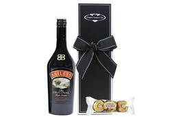 Baileys Irish Coffee Cream and chocolate beautifully packaged in our signature gift box