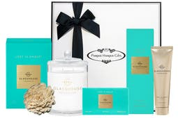 Glasshouse Fragrances Lost in Amalfi Soy Candle 380g, Glasshouse Fragrances Lost in Amalfi Body Bar 180g, Glasshouse Fragrances Lost in Amalfi Hand Cream 100ml, beautifully packaged in our signature gift box.