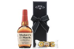 Maker's Mark Bourbon Whisky with chocolate packaged beautifully in our signature PHG gift box