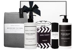 Barkly Basics dish wash, hand wash, sponge, dish cloth and tea towel beautifully packaged in our signature gift box