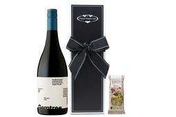 Gemtree Bloodstone Organic red wine & organic chocolate wine hamper gift packaged in our signature Pamper Hamper Gifts packaging.