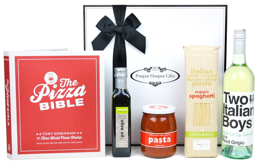 Image of The Italian Pizza Gourmet Food and Wine Hamper